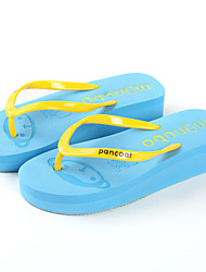 Women's Shoes Wedge Heel Wedges / Flip Flops / Slippers Sandals Outdoor / Dress / Casual Black / Blue / Yellow / Red