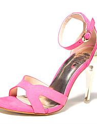 Women's Shoes Fleece Stiletto Heel Heels Heels Casual Black / Green / Multi-color