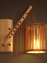 Rural-style Traditional Craft Bamboo Perforated Wall Lamps Europe Retro Art Hand-made Lights for Vestibule Corridor