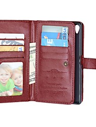 PU Full Body Case With 9 Card Slot for Sony Xperia Z3/Z4/Z5/Z5 Compact /M4(Assorted Colors)