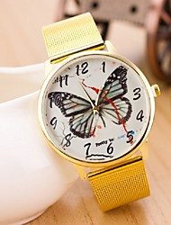 Women's Fashion Metal Butterfly Band Watch Cool Watches Unique Watches