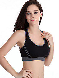 Cropped Feminino Women Crop Top Cropped Padded Bra Tank Top Athletic Vest Gym Fitness Sports Stretch Women's Tanks