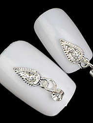 Lovely Mental Pendant Alloy Diamond Nail Jewelry (5Pcs)