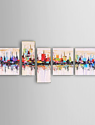 New York City Picture Canvas Handpainted Oil Painting American Style Wall Art Gift With Stretched Frame #014
