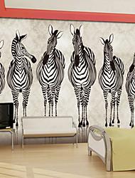кожа эффект играть в хоккей большой настенной росписи обоев зебра животных стены искусства декора