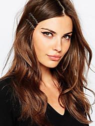 Women Simple Fashion Arrow Minimalist Hairpin Alloy Geometric Hairpin Hair Accessories 1pc