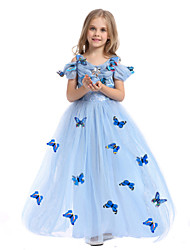 Cosplay Costumes Party Costume Princess Fairytale Festival/Holiday Halloween Costumes LightBlue Print DressHalloween Christmas Carnival