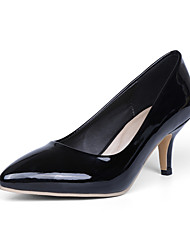 Women's Shoes Patent Leather/Kitten Heel/Pointed Toe Heels Office & Career/Dress Black/Blue/Yellow/Pink