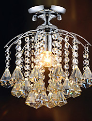 Max 60W Modern Crystal / Mini Style Electroplated Metal Chandeliers / Flush Mount Living Room / Dining Room / Entry