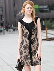 Zishangbaili® Women's V Neck Sleeveless Above Knee Dress-F14-1