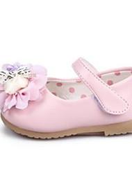 Zapatos de bebé-Planos-Vestido / Casual-PU-Negro / Rosa / Blanco