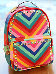 Women PU Backpack Multi-color