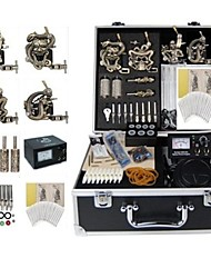 Basekey Tattoo Kit K0174 4Guns Machine With Power Supply Grips Cleaning Brush Needles