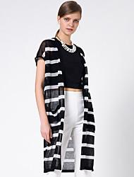 Goelia® Femme Col en V Sans Manches Pull & Cardigan Noir-164W5C020