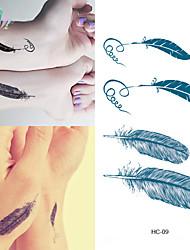 Waterproof Temporary Tattoo Sticker Feather Tattoo Totem Water Transfer Fake Tattoo