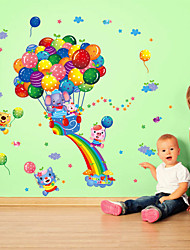 Wall Stickers Wall Decals, Cute Cartoon Animal Balloon Travel PVC Wall Sticker