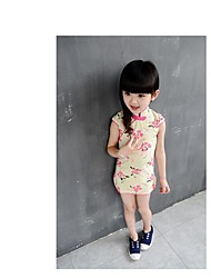 Cosplay Costumes Princess Fairytale Festival/Holiday Halloween Costumes Pink Beige Print DressHalloween Christmas Carnival Children's Day