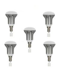 5W E14 LED Globe Bulbs R50 18 SMD 2835 450-500 lm Warm White AC 220-240 V 5 pcs