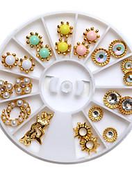 belle 6cm or 24pcs ongles bijoux mentale