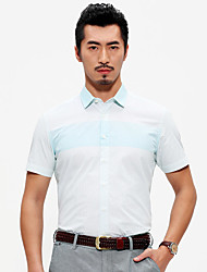 Seven brand 2016 men's orthodox short-sleeved shirt men business casual shirts in summer slim cotton men dress shirts