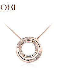 ROXI Gold Circle Pendant Necklace Jewelry