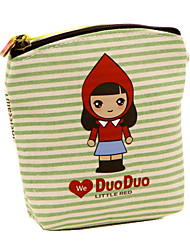 New Mini Stylish Cartoon Girl Canvas Coin Purse Key Wallet Storage Bag Children Kids Money Bag For Party Gift