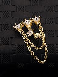 danse zircon en acier inoxydable nombril  anneau de bijoux de corps de perçage corporel dame