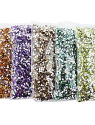 lovely acrílico 2 milímetros retângulo unhas jóias (10000pcs)