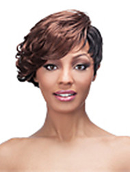 Top Quality Mix color(Bugundy&Black) Fashion Short Curly  Wig Woman's Synthetic Wigs Hair
