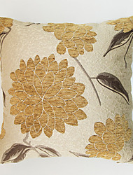 Jacquard Chenille Cushion Cover -Yellow