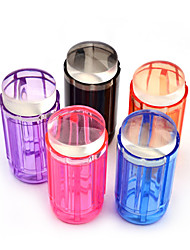 Candy Color 2.8cm Clear Jelly Silicone Nail Art Stamper Scraper Kit Polish Design Print Stamping Nail Tools