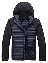 Lesmart Hombre Escote Chino Manga Larga Abajo y abrigos esquimales Azul / Negro / Gris / Verde / Naranja - EW14082