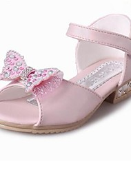 Girls' Shoes Outdoor / Work & Duty / Dress / Casual / Athletic PU Summer Mary Jane / Sandals Low Heel Bowknot Blue / Pink / Red