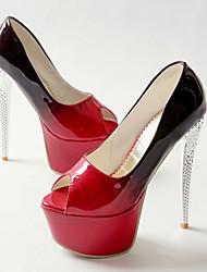 Women's Heels Spring Summer Fall Platform Comfort PU Wedding Office & Career Dress Casual Party & Evening Stiletto Heel Platform Crystal