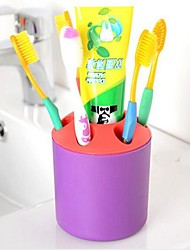 Plastic So Practical Porous Desktop Pen Container Toothbrush Toothpaste Holder Random Color