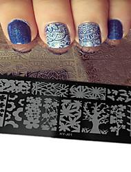 1pcs nova unha arte placas de estampagem diy modelos imagem ferramentas de beleza do prego xy-j01-05