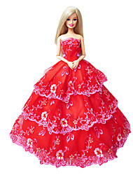 Princess Dresses For Barbie Doll Red Dresses