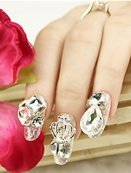 Lovely Silver Diamond  Nail Jewelry
