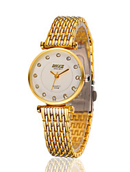 Women's Stainless Steel Gold Chain Band Analog Bracelet Wrist Watch Jewelry Cool Watches Unique Watches