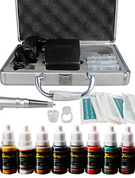 Solong Tattoo Permanent Makeup Kit Tattoo Pen Eyebrow Lip Machine Set 10 Makeup Inks EK111-2