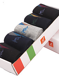 L'ALPINA® Men's Solid Color Medium 5/box Socks-31141
