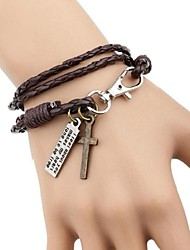 leather Charm Bracelets COOL New Fashion Personality Woven Style Leather Bracelets inspirational bracelets