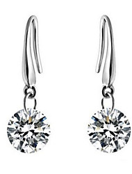 Drop Earrings Zircon Cubic Zirconia Alloy Silver Jewelry Daily Casual