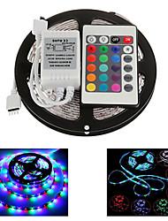 z®zdm 5m 300x2835 Impermeável SMD LED RGB faixa de luz IP65 com controle remoto 24key (DC12V)
