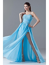 Sheath / Column Sweetheart Floor Length Chiffon Prom Dress with Beading