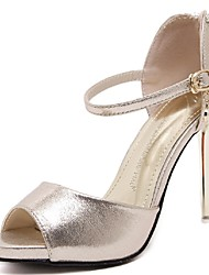 Women's Shoes Stiletto Heel Heels / Peep Toe / Platform Sandals Wedding / Party & Evening / Dress Silver / Gold