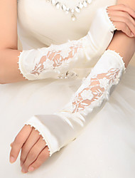 Elbow Length Fingerless Glove Satin Bridal Gloves / Party/ Evening Gloves