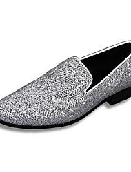 Sapatos Masculinos Mocassins Prateado Couro Casamento / Festas & Noite
