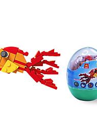 dr wan, le Bausteine Mini-Tier Eierverpackungen Puzzle Montage Bausteine Spielzeug der Goldfisch
