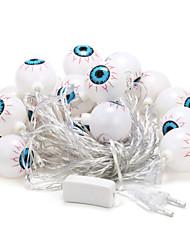 5м 20-под открытый рождественские украшения праздник глазного яблока форма теплый белый свет водить свет шнура (220v)